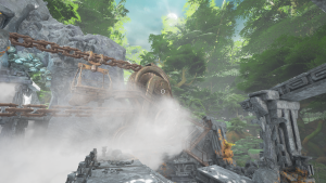 Giant machines in their natural environment: A Myst-style game.